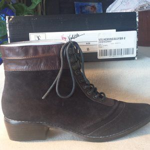 Very Volatile Hemingway Leather Lace up Booties
